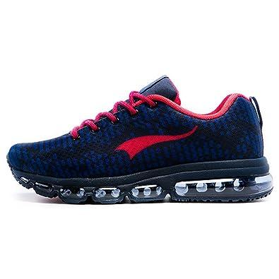 efc1a8a9adaa43 Onemix Air Sneaker Herren Damen Laufschuhe Sportschuhe Luftpolster  Turnschuhe Tiefblau Rot Size 40 EU