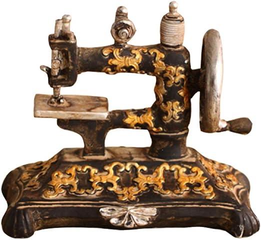 SUPVOX Vintage retro antigua máquina de coser modelo decoraciones de escritorio adornos regalos de cumpleaños: Amazon.es: Hogar