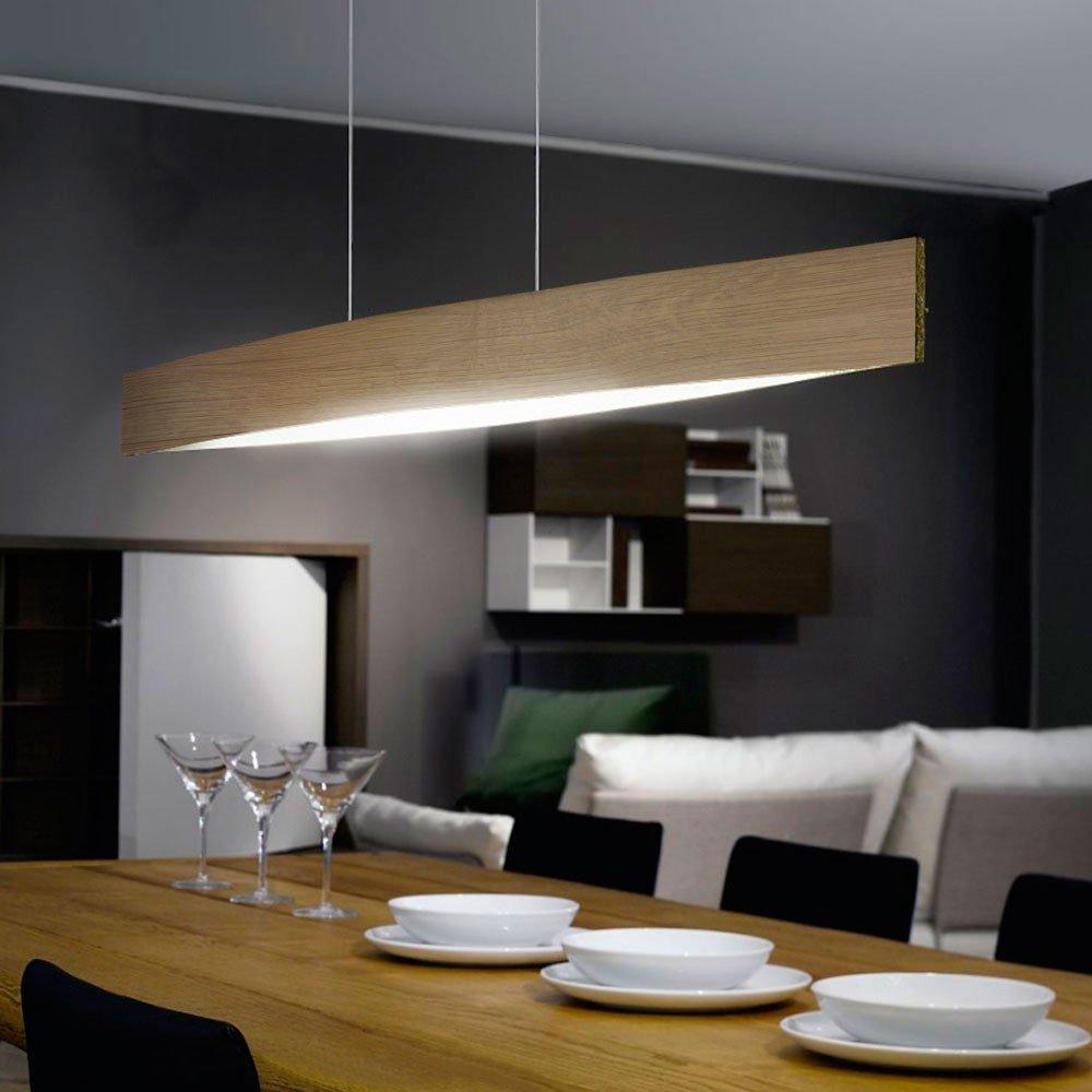 LICHT-TREND LED-Pendellampe  x  4 x  6 Watt   97cm   Eiche 8c7396