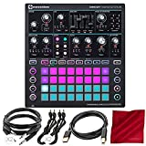 Novation Circuit Mono Station Paraphonic Analog Synthesizer and Sequencer with Basic Accessory Bundle