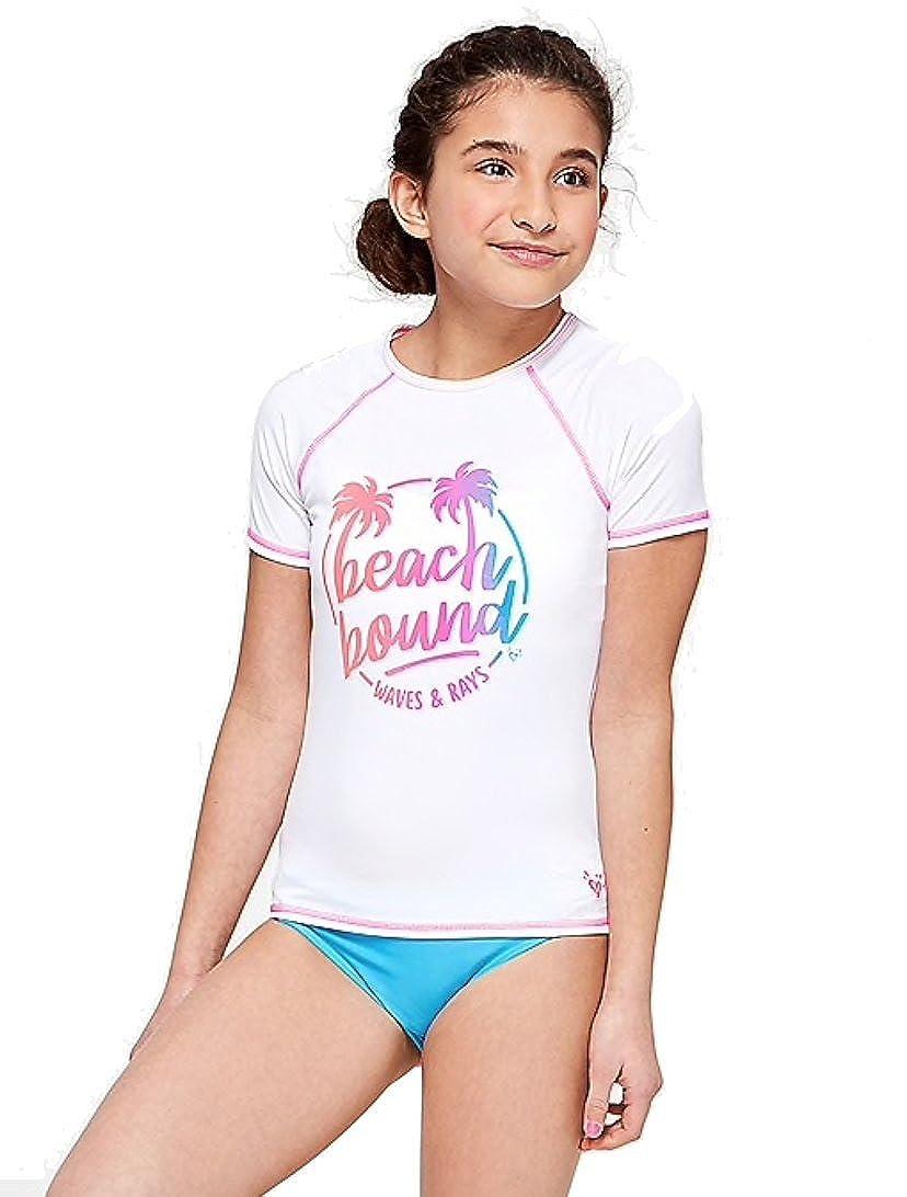 6f690b710 Amazon.com: Justice Swim Rashguard Beach Bound: Clothing