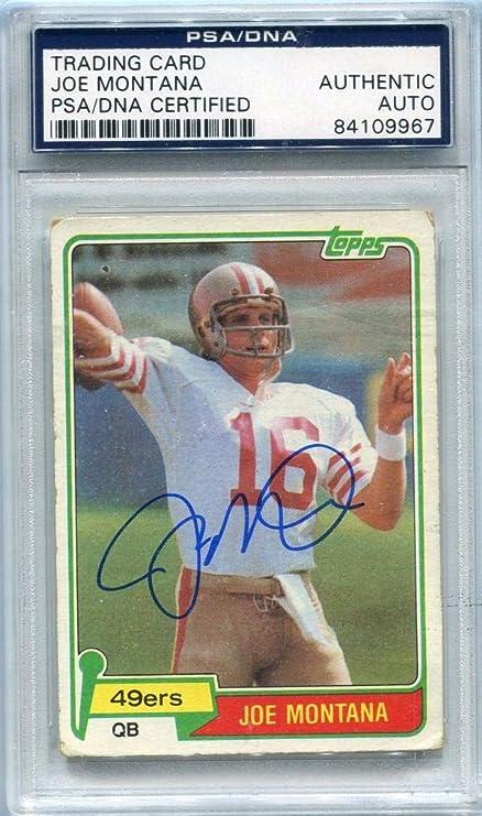 super popular fc97f 66292 Joe Montana Autographed 1981 Topps Rookie Card (PSA/DNA ...