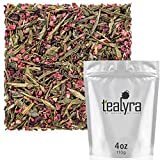 Tealyra – Raspberry Punch – Sweet Green Tea with Hibiscus and Raspberry – Loose Leaf Tea – Hot or Iced Tea – Caffeine Low – All Natural Ingredients – 110g (4-ounce) For Sale