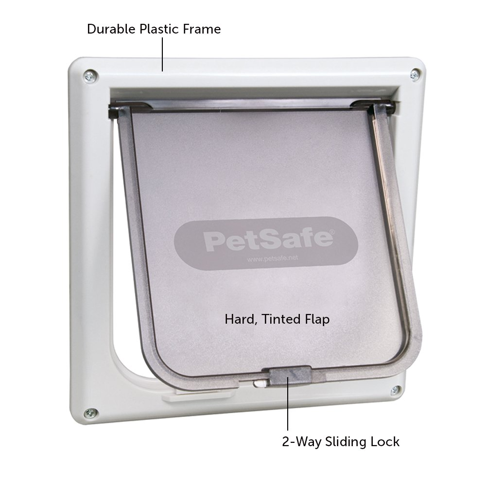 Com Petsafe Interior 2 Way Locking Cat Door White Pet Doors Supplies