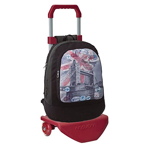 Pepe Jeans 41423C1 London Mochila con Carro, 21 Lt, Color Gris: Amazon.es: Zapatos y complementos