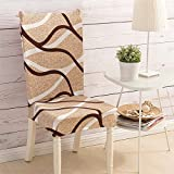 Knowish Chair Cover, Stylish Chair Cover, Stretch Dining Room Chair Slipcovers Home Decor Set (Style 7, 6 Chair)