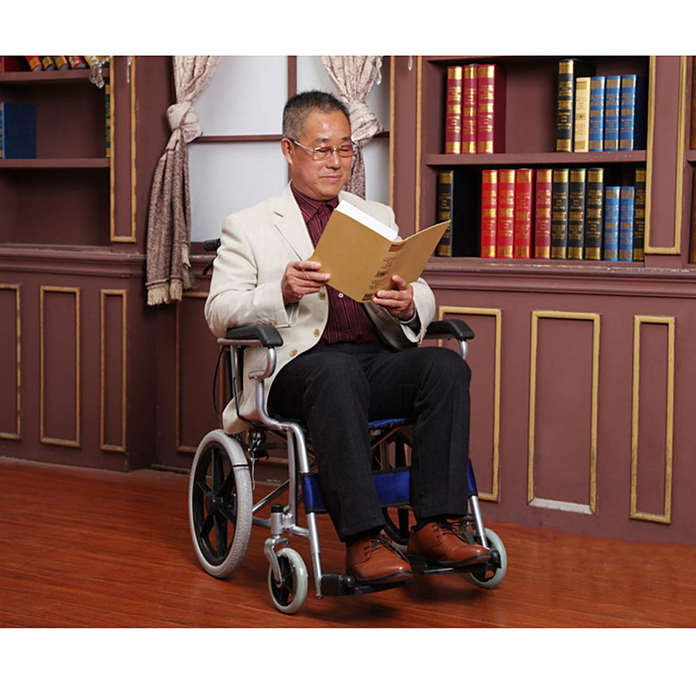 Amazon.com: Wheelchair Folding Backrest Handle, Lightweight Portable Solid Tire Elderly Pregnant Women Disabled Outdoor Travel,Orange: Garden & Outdoor