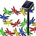 KOBWA Solar String Lights,16ft 20 LED 2 Modes Dragonfly Lights Waterproof Fairy Lighting Indoor/Outdoor Decoration for Garden,Patio,Wedding,Christmas,Bedroom