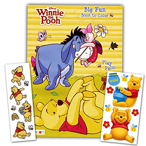 (Winnie the Pooh Coloring Book with Stickers ~ 96-page Coloring Book with Winnie the Pooh Stickers Pack)