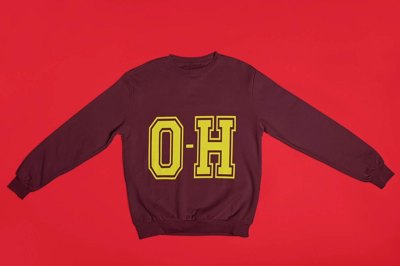 Wine O-H Crewneck Sweatshirt Unisex