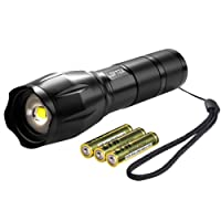 Deals on Loftek Ultra-Bright LED Tactical Flashlight w/3 AAA Batteries