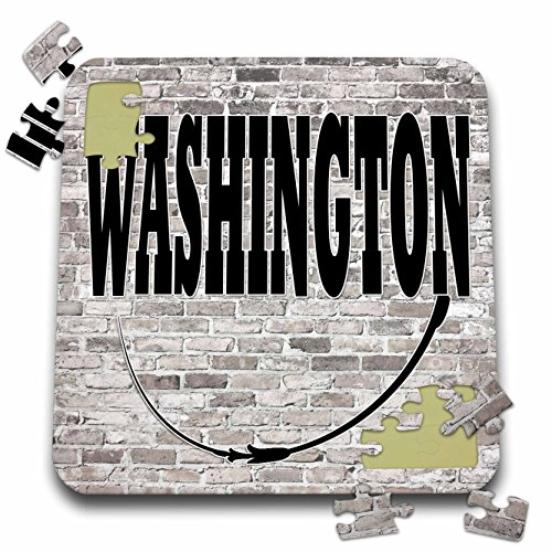 RinaPiro - US States - Washington. State Capital is Olympia. - 10x10 Inch Puzzle - State Washington Of Capital Olympia