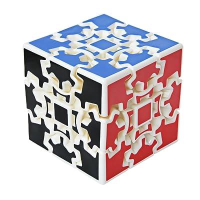 Maomaoyu Gear Cube 3X3 3x3x3 3D Gear Cubo Shift Velocidad Puzzle Cubo Magico Blanco: Juguetes y juegos