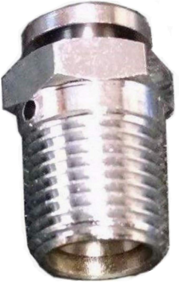 Lumax LX-1422 Silver 1//8 NPT Male Air Bleeder Valve