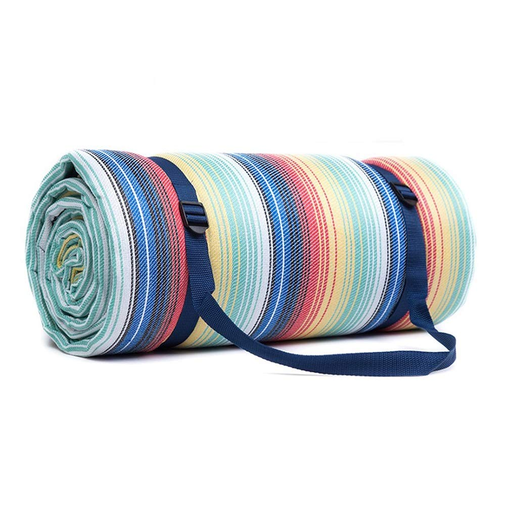 Picnic Blanket Extra Large with Waterproof Backing, Lightweight Compact Picnic Travel Rug, Outdoor Baby Crawling or Child Play Mat, 300x300cm (Color : Style 2)