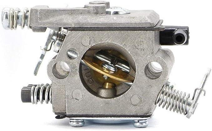 <keine Marke> Carburador Carburador Carber for Walbro 017 018 MS170 MS180 Piezas de recambios de Motosierra for Piezas de Herramientas de jardín Tipo Walbro (Color : Silver)