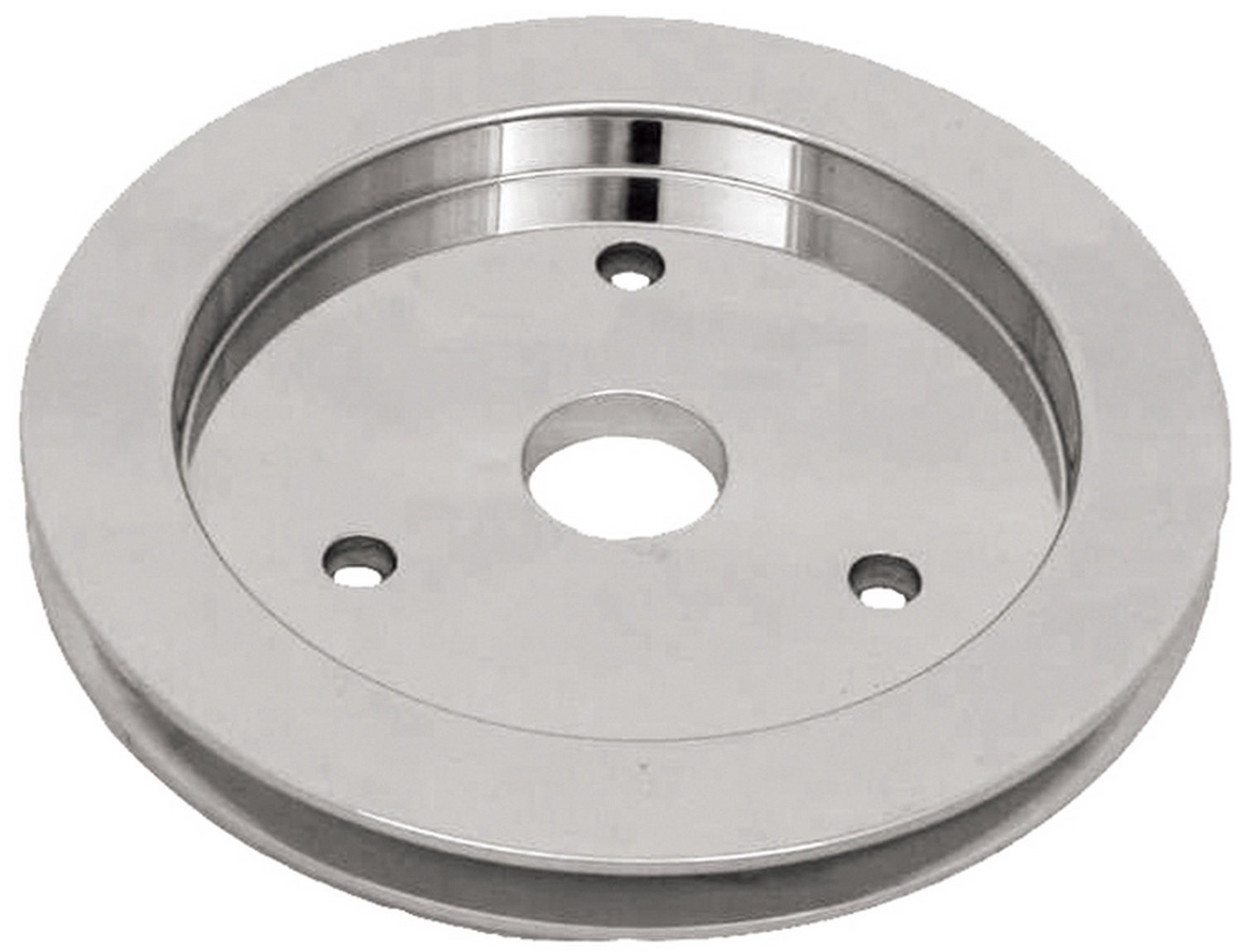 CSI C9480 Polished Aluminum Crankshaft Pulley, Single Groove Short Water Pump - Chevy Small Block V8 Engine Competition Specialities