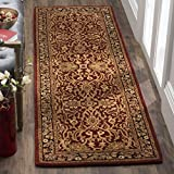Safavieh Persian Legend Collection PL523C Handmade Traditional Rust and Black Wool Runner (2'6'' x 10')
