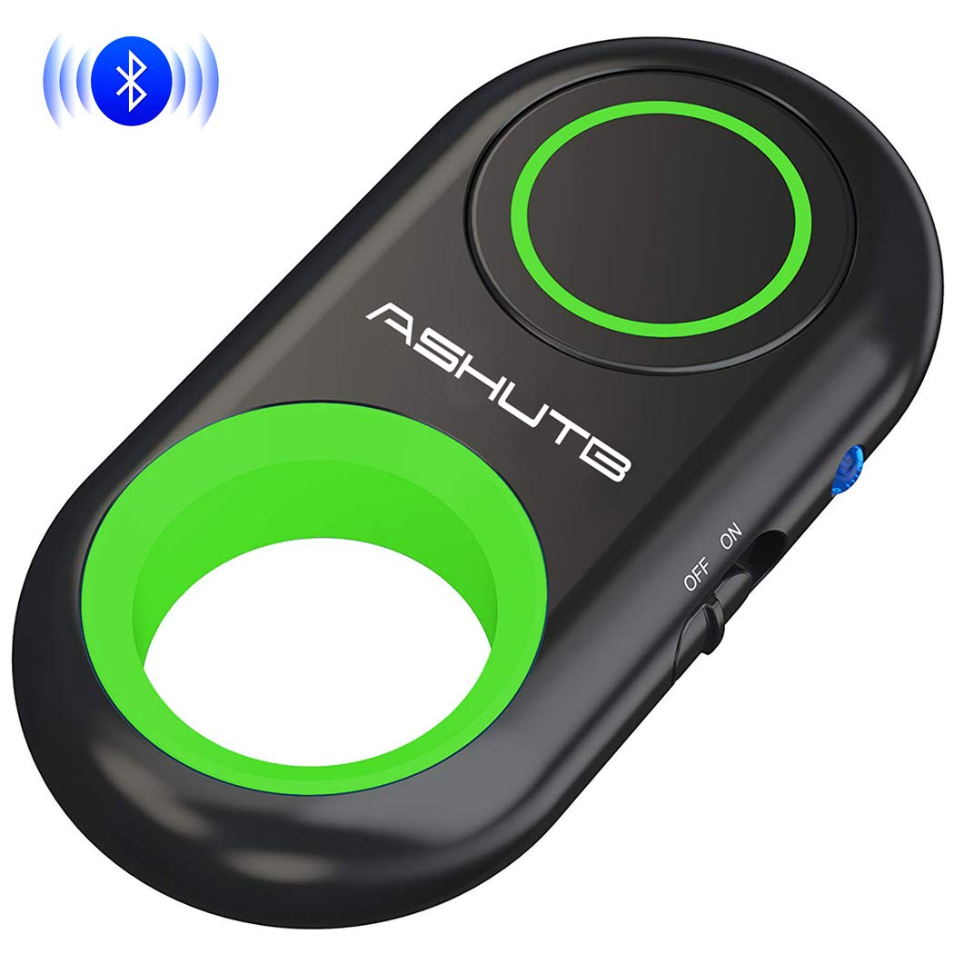 [Upgraded] Bluetooth Remote Shutter for iPhone & Android Camera Control Selfie Button for iPad iPod Tablet, HD Selfie Clicker for Photos & Videos (Green)