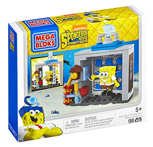 Mega Bloks The SpongeBob Movie: Sponge Out of Water Photo Booth Time Machine Building Set