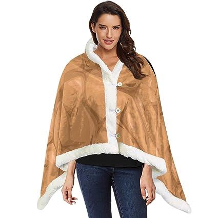 Amazon.com: Wearable Throw Blanket Pebbles Cape Shawls Scarf ...