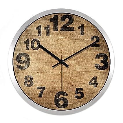 BYLE Creativo, minimalista y elegante salón moderno Reloj digital de cuarzo Mute Decoracion de pared