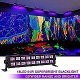 18 LEDs Black Lights, OPPSK 54W Powerful Black