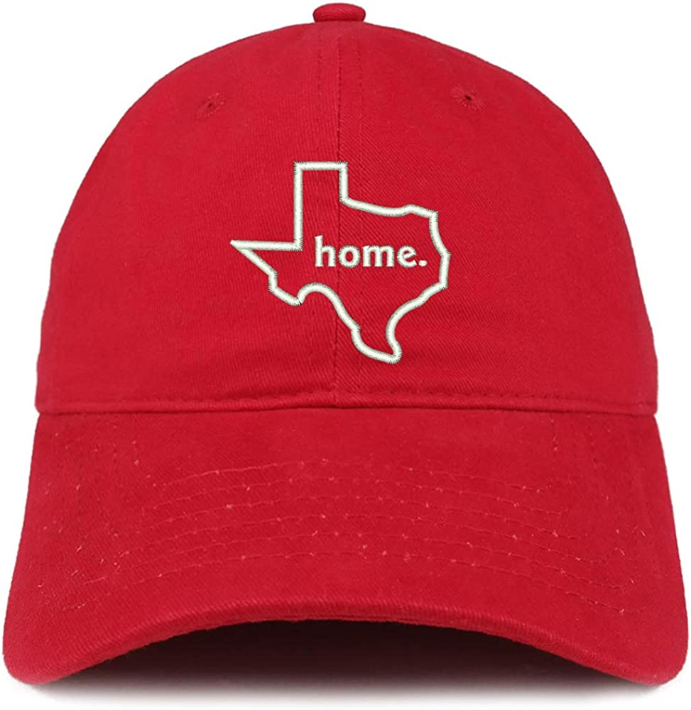 Trendy Apparel Shop Texas Home Embroidered 100% Cotton Adjustable Cap Dad Hat