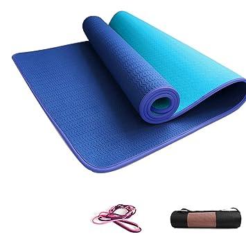 YOGANHJAT Colchoneta de Yoga, 8mm Suave Colchoneta de ...
