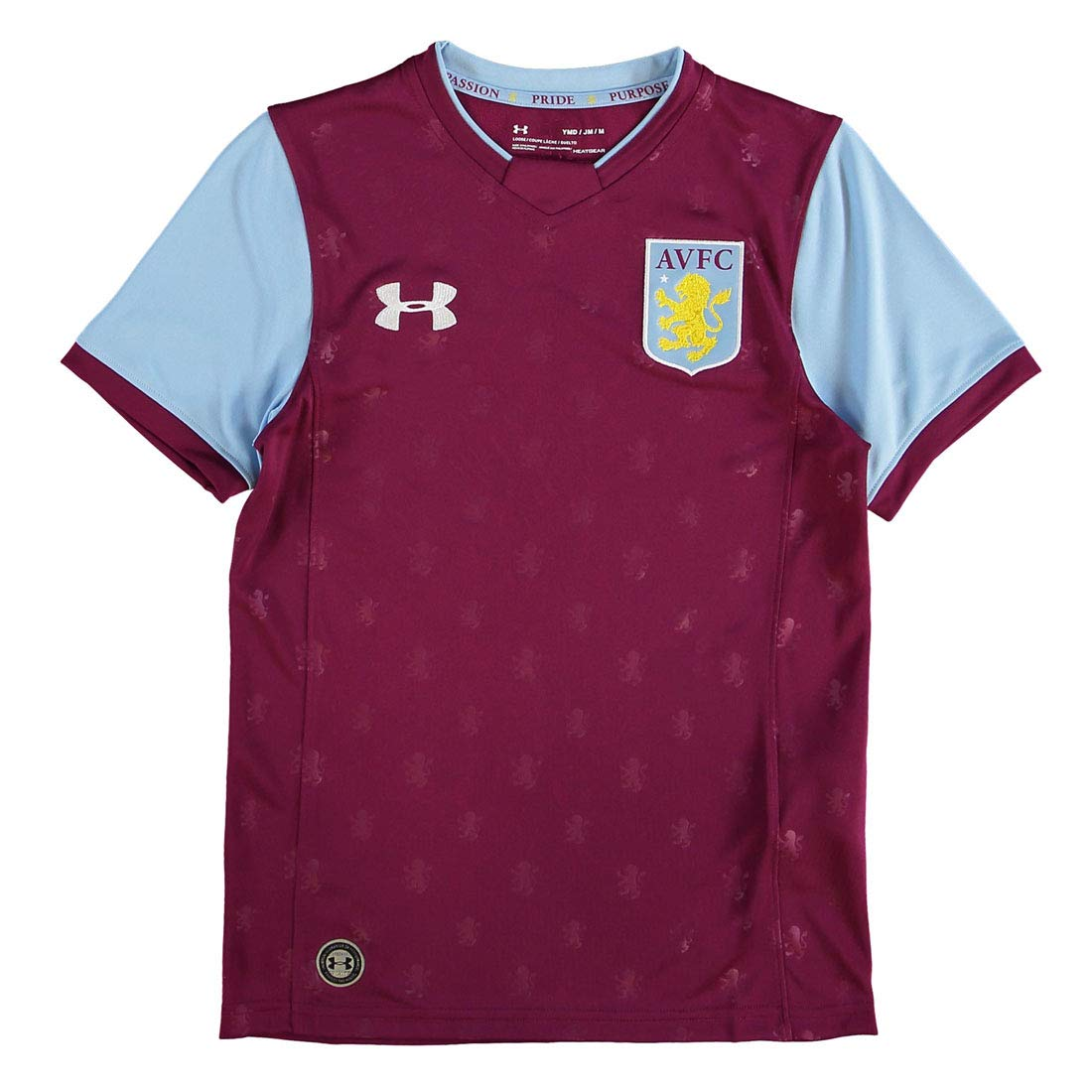 Royal Magenta Under Armour Aston Villa 17 18 Kids Home Football Replica Kit Fan Shirts Cloverlakeliving Com