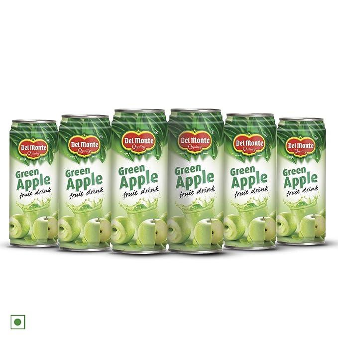Del Monte Green Apple Fruit Drink, 6 x 240 ml