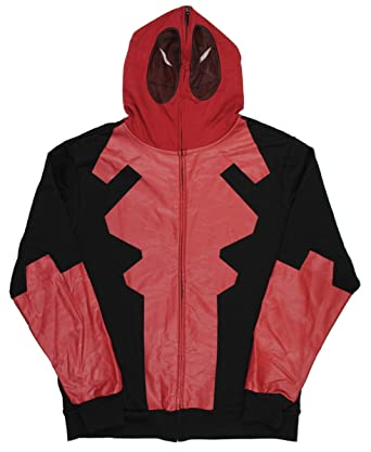 Marvel Deadpool Traje Full Zip Hoodie: Amazon.es: Ropa y ...