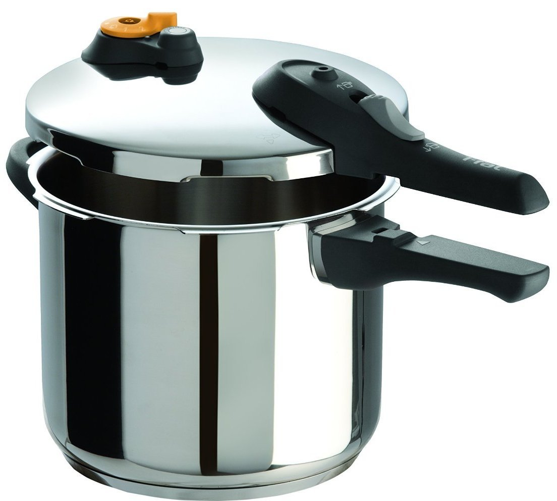 T-fal P25107 Stainless Steel Dishwasher Safe PTFE PFOA and Cadmium Free 10 / 15-PSI Pressure Cooker