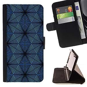 Dark Blue Pattern Snowflake - Modelo colorido cuero de la carpeta del tirón del caso cubierta piel Holster Funda protecció Para Samsung ALPHA G850