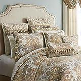 Croscill Nadalia 4 Piece Comforter Set Ivory/Gold California King