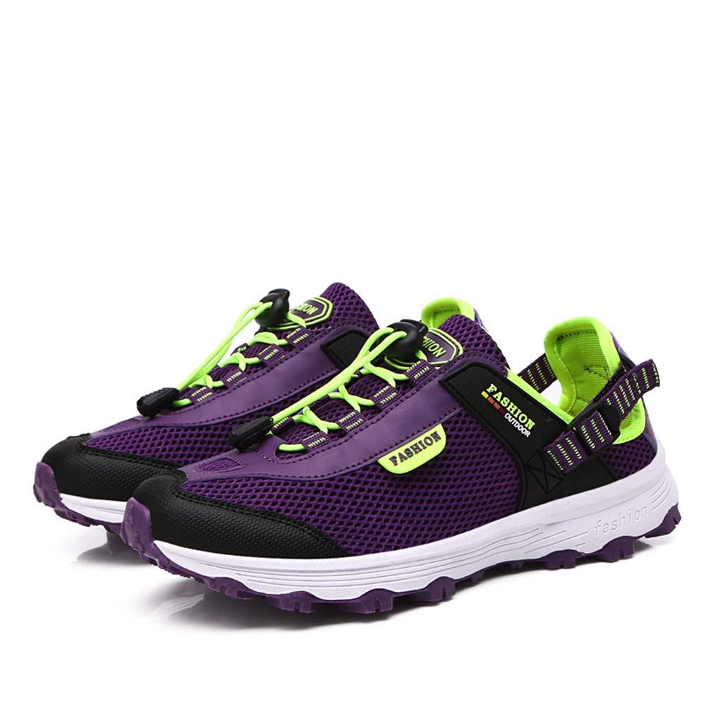 KANGLE Uomini e Donne Coppie Outdoor Scarpe da Trekking Sport e Tempo Libero Sneake Scarpe da Corsa Canottaggio Acqua & Scarpe da Trail,viola,40