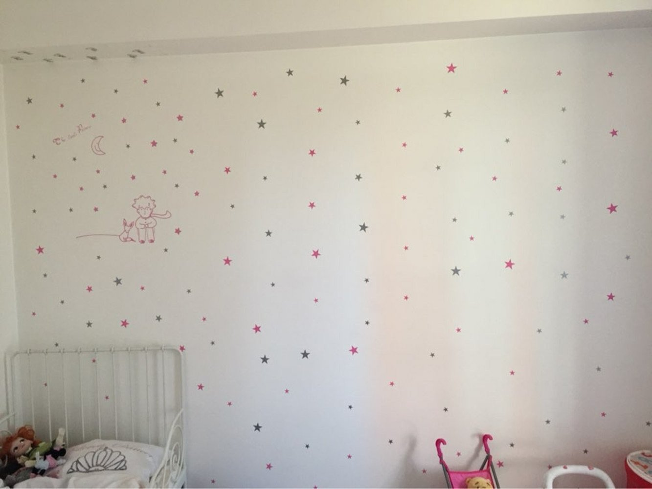 Wall Stickers Wall Decals Color Star Nursery Rooms Children Rooms Wall Arts (Gold) WDA