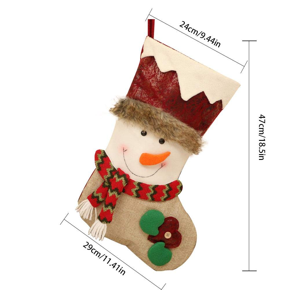 Amazon.com: Blueyouth 3 Pack Christmas Stockings - Super Cute Socks Hanging in Xmas Tree Home Restaurant Hotel Decorations and Party Supplies, ...