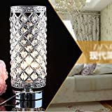 NEW Crystal Table Lamp Bedroom Lights Bedside Lamp Silve