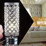 NEW Crystal Table Lamp Bedroom Lights Bedside Lamp Silve