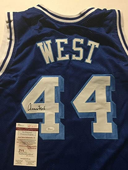 e713b631d02 Autographed Signed Jerry West Los Angeles LA Blue Basketball Jersey JSA COA