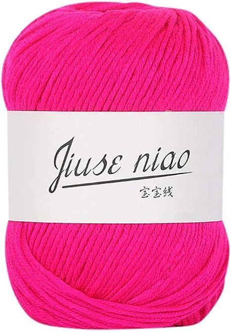 Hilo de lana suave para tejer, crochet de cachemira de algodón para tejer, tejido, 52 colores, 0,11 lb: Amazon.es: Juguetes y juegos