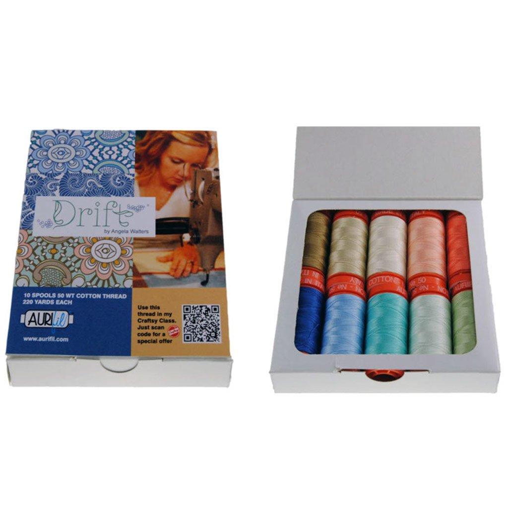 Aurifil Thread Set Drift By Angela Walters 50wt 10 Small Spools AW50DR10