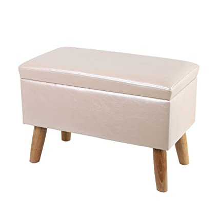 Bon Eshow Ottoman And Foot Stools Shoe Bench With Storage Storage Bench Pouf Ottoman  Storage Ottoman Leather