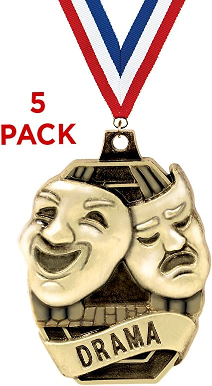 Acting Drama Theatre Award Medals with FREE Neck Ribbon