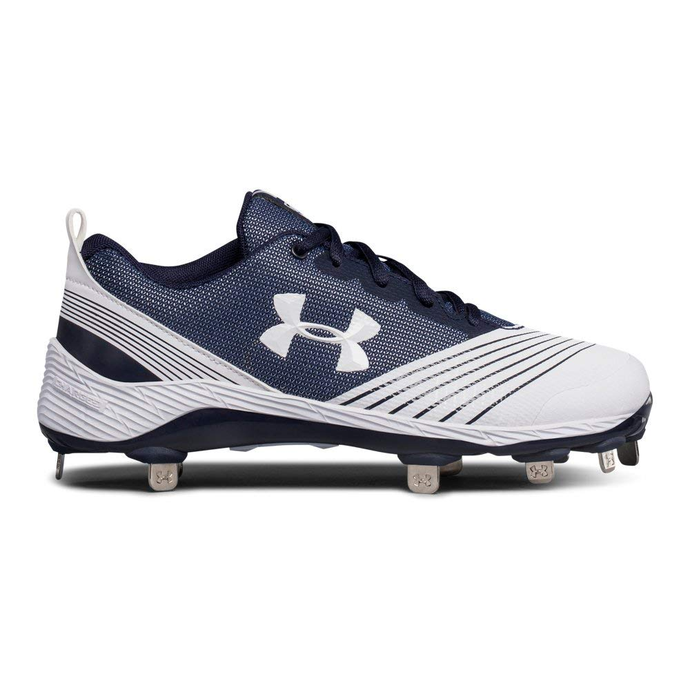 Under Armour Women's Glyde ST Softball Shoe, White (141)/Midnight Navy, 10 by Under Armour