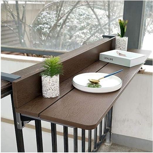 CHAOYU Mesita pequeña Mesa para Colgar en el balcón, Mesa Plegable ...