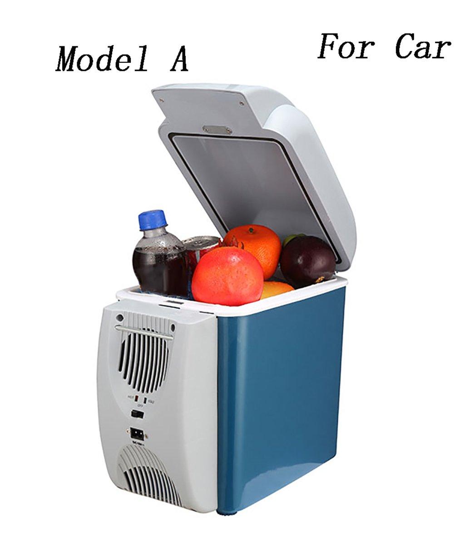 LIQICAI Auto Elektrische Kühlbox Kühlung Mini Kühlschrank Elektrische Kühlbox Kühler Warm/Cool -12V DC (Farbe : A)