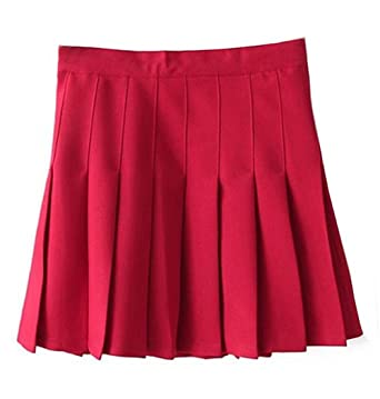 b7f66d466ad Women School Uniforms plaid Pleated Mini Skirt at Amazon Women s ...