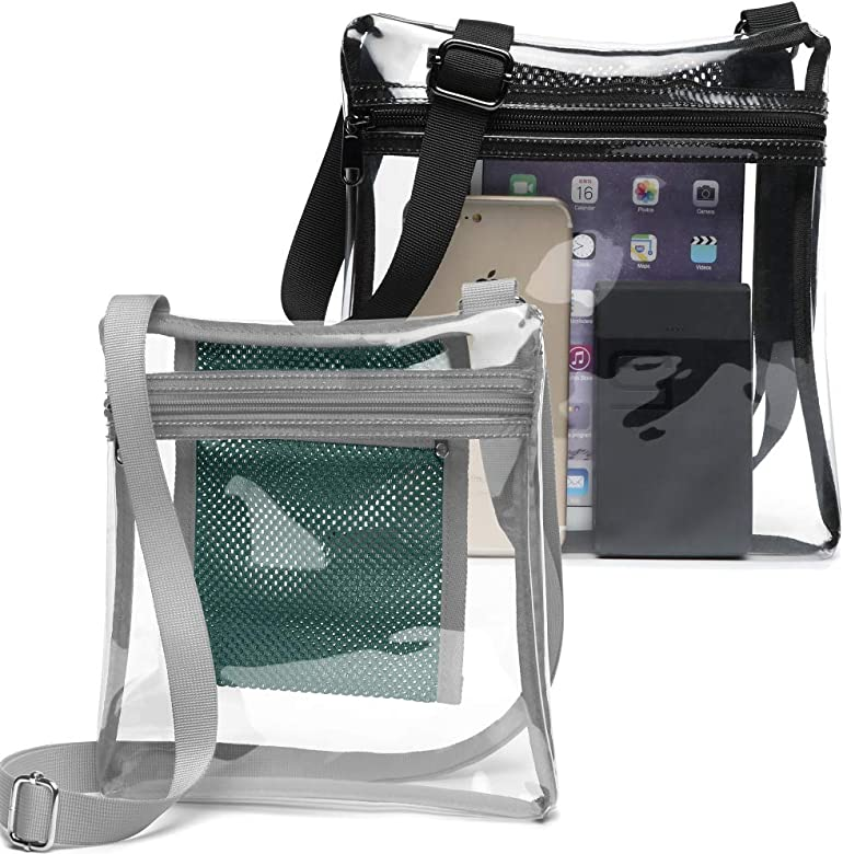 7a10d17904f4 Clear Bag, F-color Clear Purse NFL, BTS Concert Stadium Approved Bag for  Women